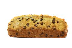 Chocolate chips bread Stock Images