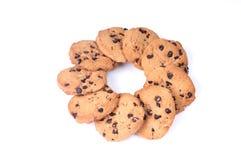 Chocolate Chips circle shape Stock Image