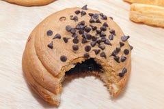 Chocolate Chips Coffee Bun foto de stock