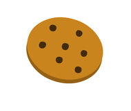 Chocolate chips cookie. Digital illustration on a white background representing a chocolate chips cookie vector illustration
