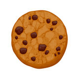 Chocolate chips cookie vector illustration stock illustration