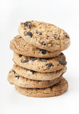 Chocolate chips cookies. Extreme close-up image of chocolate chips cookies Stock Photos