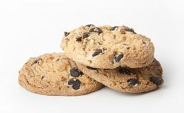 Chocolate chips cookies Royalty Free Stock Images