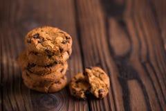Chocolate Chips Cookies Fotos de archivo libres de regalías