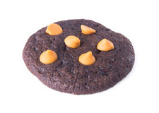 Chocolate chips cookies on background Royalty Free Stock Images