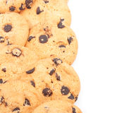 Chocolate chips cookies background Royalty Free Stock Image