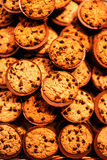 Chocolate chips cookies, close up. Chocolate chip cookies shot Royalty Free Stock Image