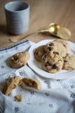 Chocolate Chips Cookies del tocino Imagenes de archivo