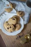 Chocolate Chips Cookies del tocino Imagen de archivo