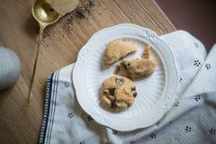 Chocolate Chips Cookies del tocino Fotos de archivo libres de regalías