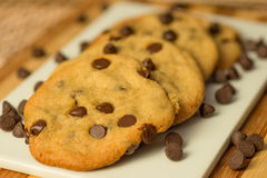 Chocolate Chips Cookies do vegetariano imagens de stock royalty free