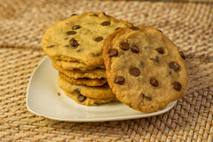 Chocolate Chips Cookies do vegetariano imagem de stock royalty free