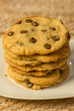 Chocolate Chips Cookies do vegetariano foto de stock royalty free