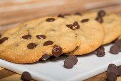 Chocolate Chips Cookies do vegetariano foto de stock