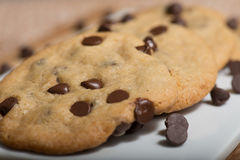 Chocolate Chips Cookies do vegetariano fotos de stock royalty free