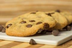 Chocolate Chips Cookies do vegetariano fotos de stock