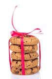 Chocolate chips cookies isolated on white Royalty Free Stock Photography