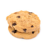 Chocolate  chips  cookies  isolated on white background Stock Photography