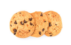 Chocolate  chips  cookies  isolated on white background Stock Photo