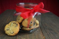 Chocolate chips cookies Stock Photography