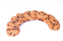 Chocolate Chips crescent shape Stock Photos
