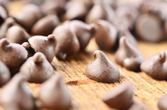 Chocolate chips Stock Photography