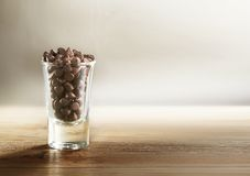 Chocolate Chips inside cup Royalty Free Stock Image