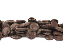 Chocolate chips isolated Royalty Free Stock Image
