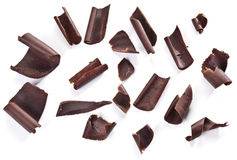 Chocolate chips isolated. Royalty Free Stock Photos