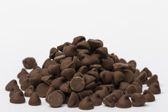 Chocolate Chips. A large pile of milk chocolate chips Royalty Free Stock Photography