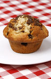 Chocolate chips muffin stock photography