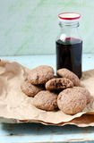 Chocolate chips oatmeal cookies Stock Photos