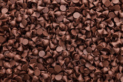 Chocolate chips. Texture and background Stock Images