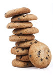 Chocolate Chips Tower Royalty Free Stock Image