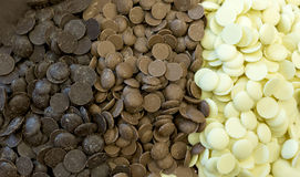 Chocolate chips Stock Image