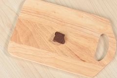 Chocolate on a chopping board Royalty Free Stock Photography