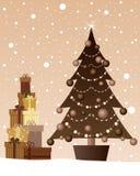 Chocolate christmas Stock Photography