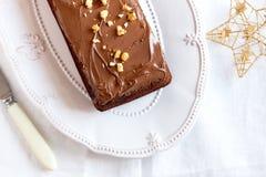 Chocolate Christmas cake Royalty Free Stock Image