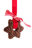 Chocolate Christmas cookie Stock Image