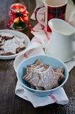 Chocolate Christmas cookies. In a plate Royalty Free Stock Image