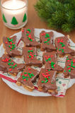 Chocolate Christmas Cookies Royalty Free Stock Image