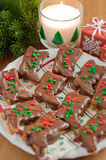 Chocolate Christmas Cookies Royalty Free Stock Photos