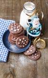 Chocolate Christmas cookies for Santa Stock Photography