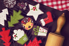 Chocolate christmas cookies Stock Image