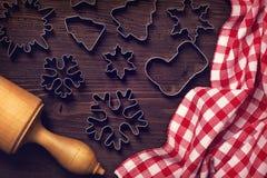 Chocolate christmas cookies Royalty Free Stock Photos