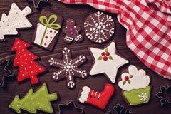 Chocolate christmas cookies Stock Photos