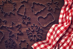 Chocolate christmas cookies Royalty Free Stock Photo