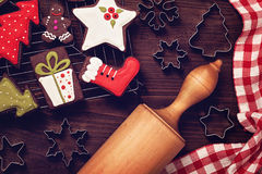 Chocolate christmas cookies Royalty Free Stock Photography