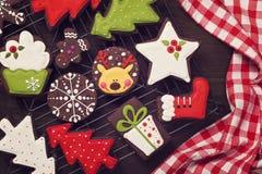 Chocolate christmas cookies Stock Photography