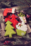 Chocolate christmas cookies Royalty Free Stock Images